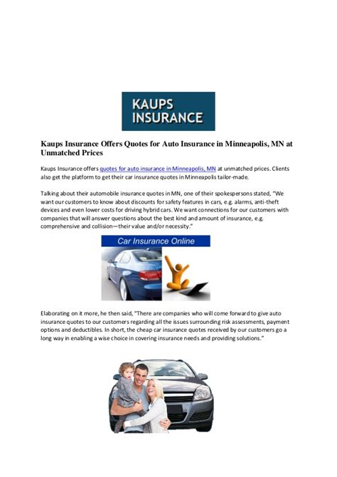 Kaups insurance offers quotes for auto insurance in