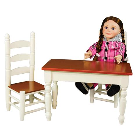 18 doll furniture table and chairs farmhouse collection farm table chairs for madame