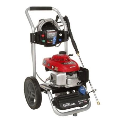 homelite 2700 psi 2 3 gpm honda gas pressure washer