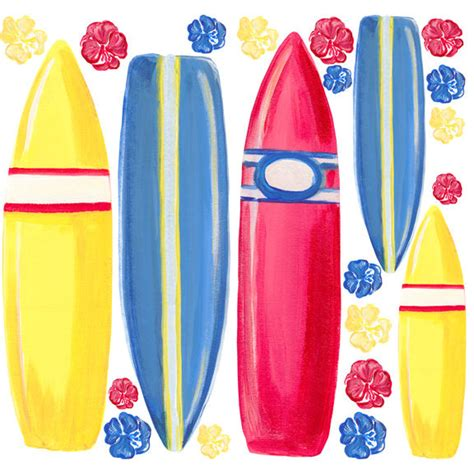 surfboard wall stickers surfboards wall decals