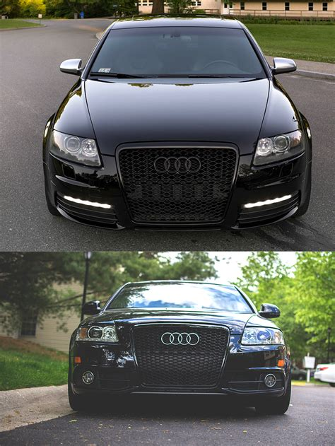 Audi A6 4f Grill by Gloss Black Honeycomb Rs Style Front Bumper Bar Grille For