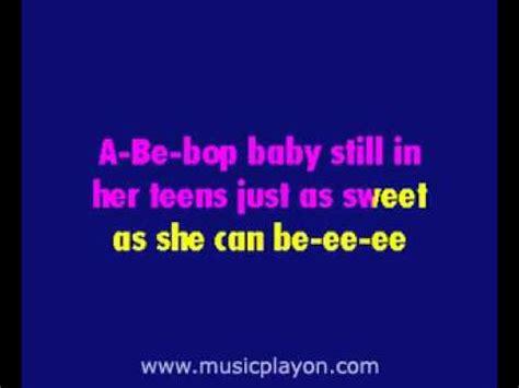be bop baby ricky nelson be bop baby musicplayon