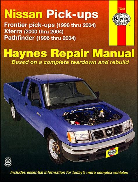 motor auto repair manual 1998 nissan pathfinder user handbook nissan frontier xterra pathfinder repair manual 1996 2004 haynes