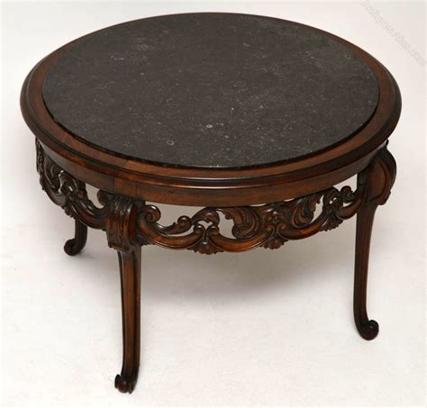 antique marble top walnut coffee table antiques atlas