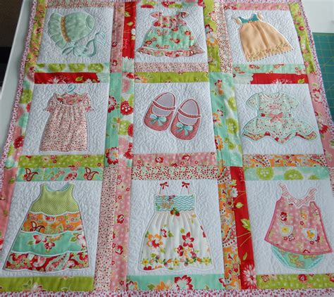How To Make Handmade Quilts - tiny dresses a quilt for a new baby