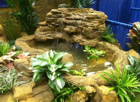 large backyard pond corner waterfall kits artificial rocks
