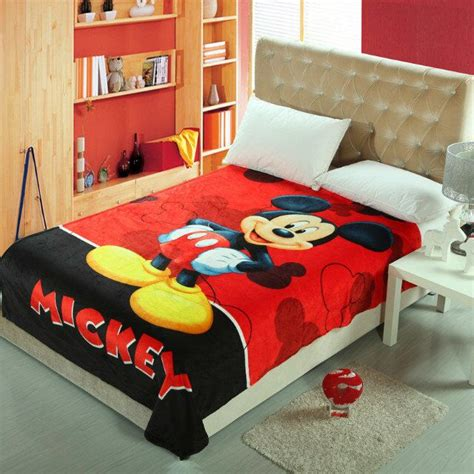 Bed Cover Set Mickey Polka 120x200 minnie mouse bed frame disney print bedding set cotton blue polka dot mickey and minnie