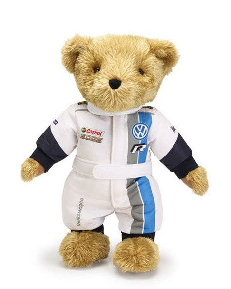 vw plush motorsport teddy bear volkswagen accessories gv genuine  ebay