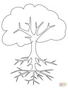 roots template tree with roots coloring book coloring pages