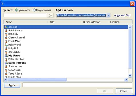 Search Exchange For Email Address Import Addresses From Contacts Address Book Of Outlook Into Your Nk2 File
