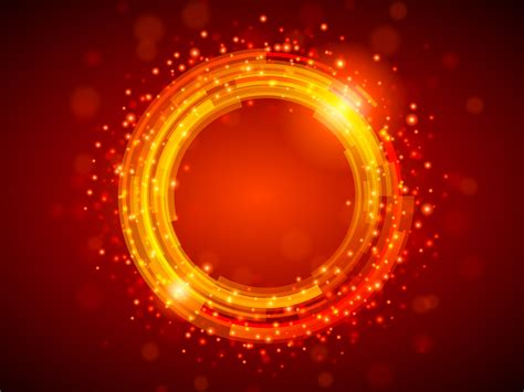 Red Shiny Circle Powerpoint PPT Backgrounds   Abstract
