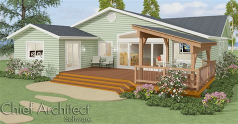 Wrap Around Deck Designs by Chief Architect Home Design Software Samples Gallery