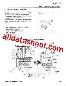 Kec Kia324p ka2111 データシート pdf samsung semiconductor