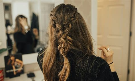 tie back hairstyles double french braid tie back hairstyle tutorial with