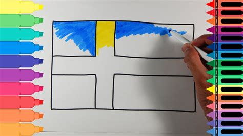 sweden flag colors how to draw sweden flag drawing the swedish flag