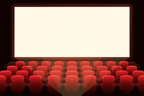 Cinema with white screen ~ Graphics ~ Creative Market