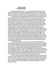 How To Write An Essay About My Family by Sle Essay Of Family Tree