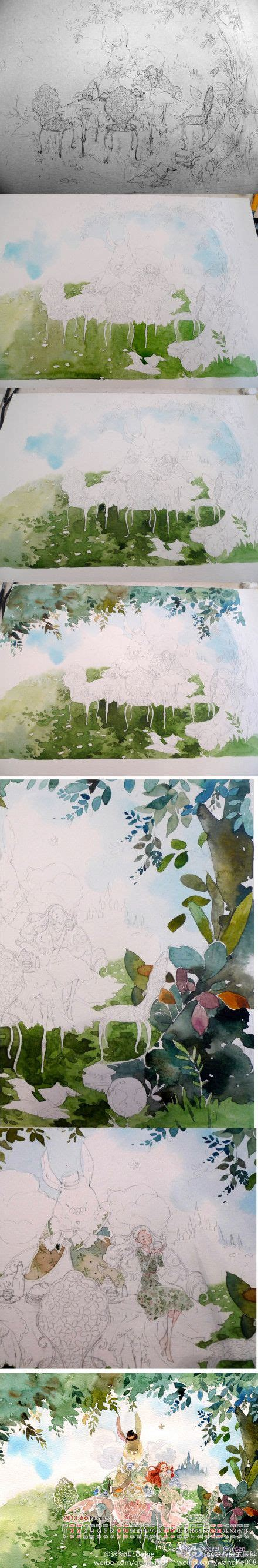 tutorial watercolor anime 120 best anime in watercolor images on pinterest art