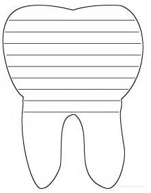 Tooth Writing Template shape poems enchantedlearning