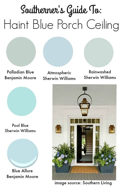 southern tradition how to add haint blue porch ceiling
