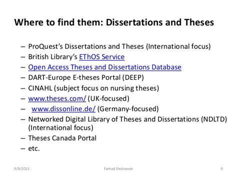 national digital library of theses and dissertations searching for grey literature