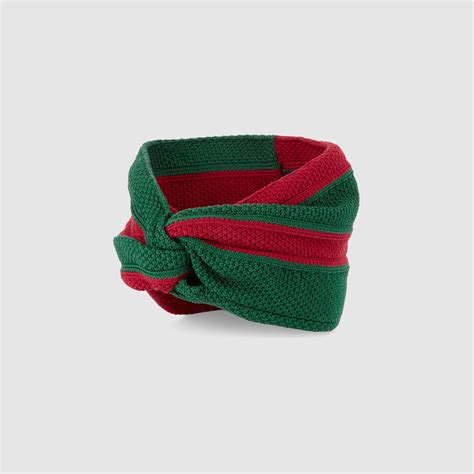 Gucci Tiara gucci web cotton headband in green lyst