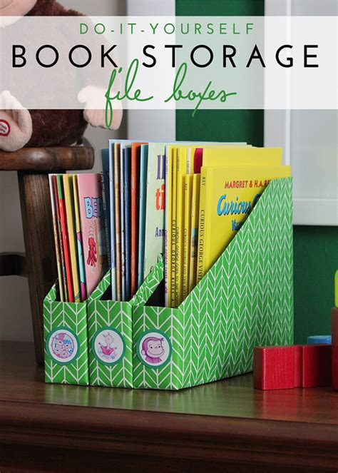 Buku Favorite Bedtime Stories diy book storage using cereal boxes