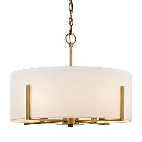 aged brass pendant light fifth and lighting manhattan 4 light aged brass