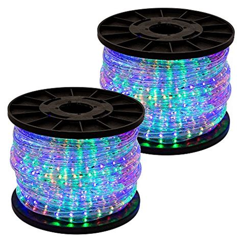 Multi Color Rope Lights Outdoor Gothobby 300 Rgb Multi Color 2 Wire Led Rope Light Home Import It All