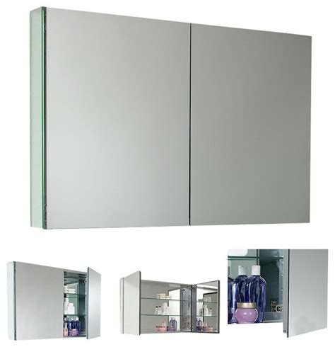 Modern Bathroom Medicine Cabinets Fresca Large Bathroom Medicine Cabinet W Mirrors Modern Medicine Cabinets By Decorplanet