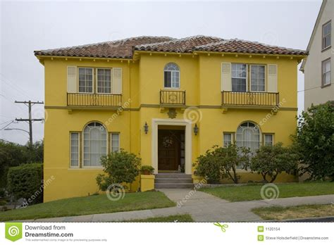 Best Ranch Home Plans bright yellow house stock images image 1120154