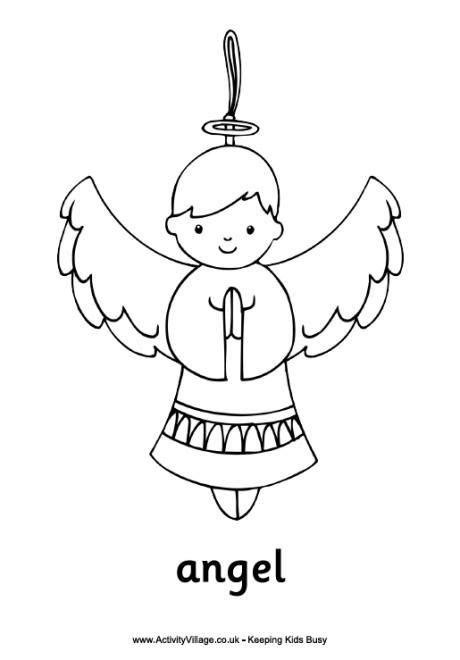 nativity angel coloring page christmas angel ornament coloring page angels
