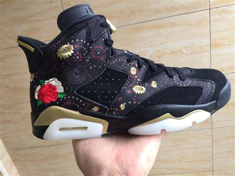 new year jordans 2015 2018 air 6 cny new year black multi color