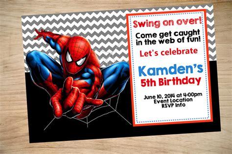 spider man birthday invitation spider man invitation