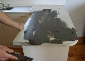 Cheap Kitchen Makeovers - diy concrete countertop
