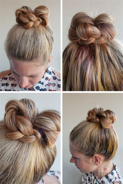 the knot so braided bun pretty top knot braided twist the braided bun with a