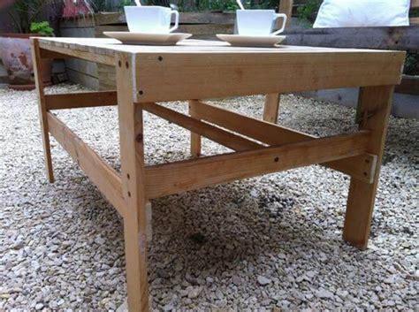 Diy Patio Coffee Table Diy Pallet Patio Coffee Table 99 Pallets