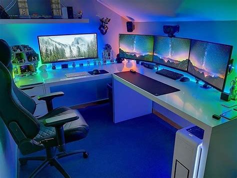 Gaming Pc Desk Setup Best 25 Gaming Setup Ideas On Computer Setup Pc Gaming Setup And Gaming Pc Set