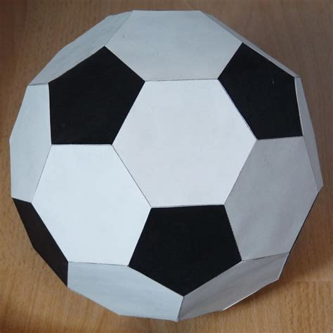 Origami Paper Football - paper truncated icosahedron soccer or football