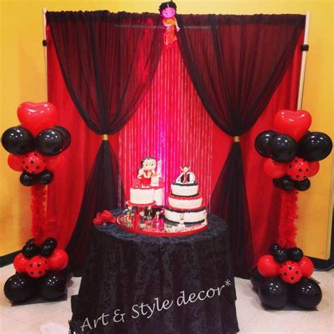 Betty Boop Decorations by Betty Boop Theme Cake Area Decor Booptiful Bday