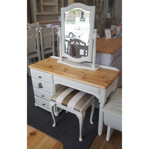 ducal pine dressing table mirror and stool in farrow and