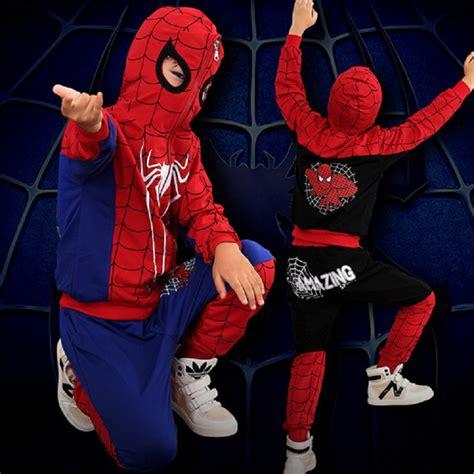 Set Polo Spider Kid dt0267 new spider children clothing sets boys sport suit sets jacket