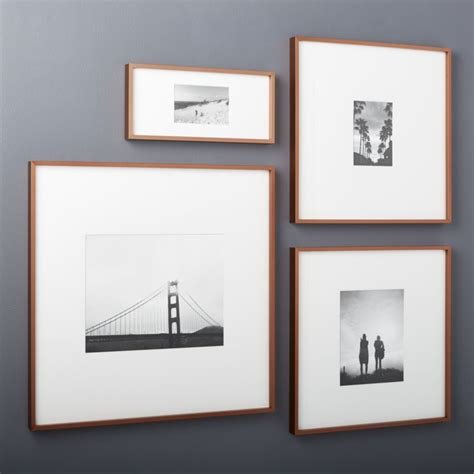 cb2 picture frames gallery copper picture frames with white mats cb2