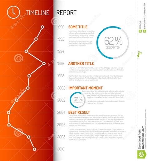 timeline report template infographic timeline report template stock illustration