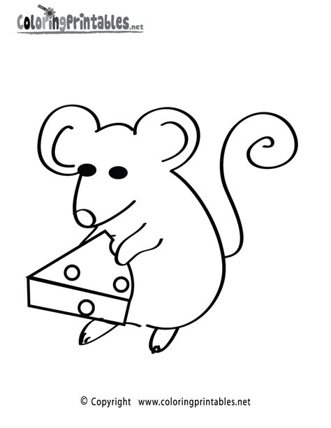 mouse colouring pages