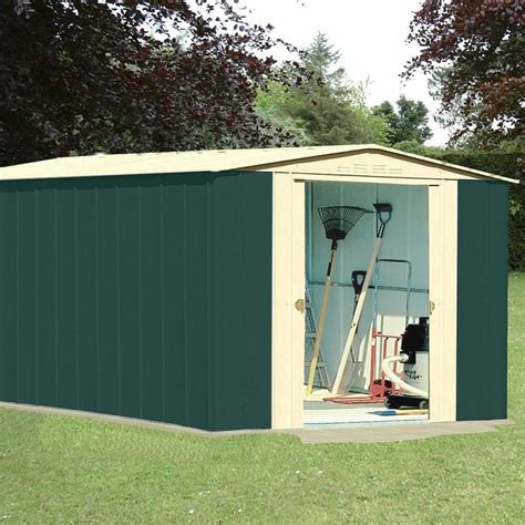 Garden Shed Metal by Metal Apex Garden Shed 10x13ft In Green And Homegenies