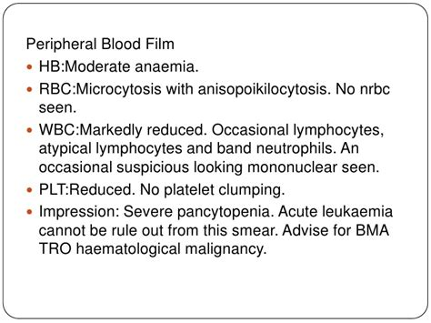 peripheral blood smear report sle 8 acute lymphoblastic leukemia