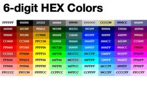 hex color calculator pin hexadecimal colors chart on