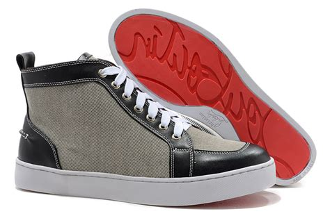 louboutin sneakers christian louboutin mens sneakers black grey christian
