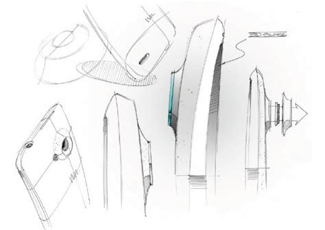 Samsung Galaxy Note Fan Edition Back Casing Design 022 Htc Shows Early Design Sketches For The Htc One X
